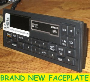 1988 1999 Ford Thunderbird Mustang F150 Tape Cette Radio Faceplate Ons
