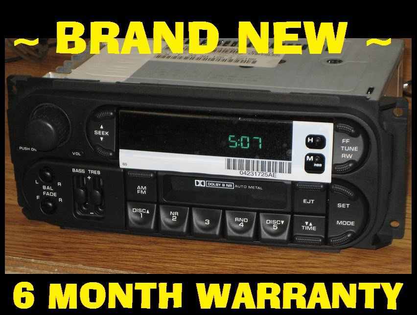 Oem 1999 2001 Dodge Caravan Neon Durango Intrepid Cassette