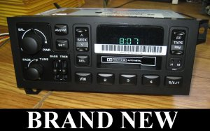 1986 2001 DODGE RAM TRUCK CASSETTE PLAYER RADIO STEREO