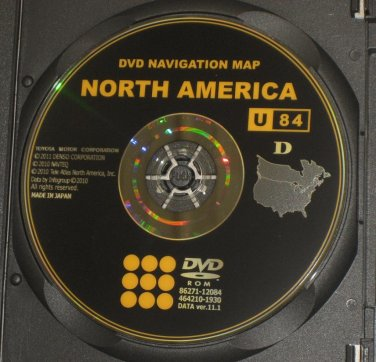 OEM 2010-2013 Toyota Matrix GENx5 Navigation DVD Map U84 US Canada version 11.1