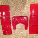New Ceramic Panels&top For Ecoteck Monica Wood Pellet Stove Furnace Red Bordeaux