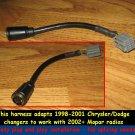 Chrysler Jeep Dodge Cd Changer wiring Harness adapter- Keep CD changer