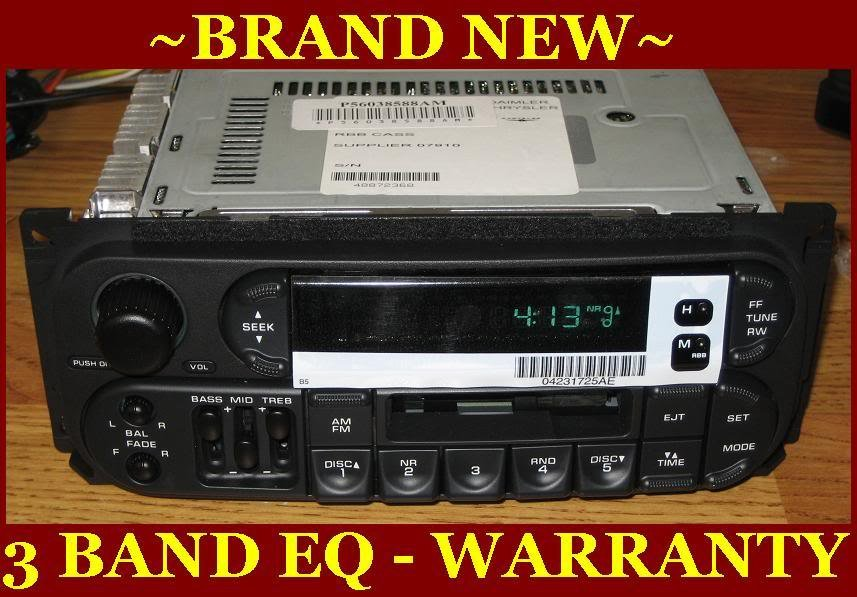 NEW 19992001 JEEP GRAND CHEROKEE INFINITY CASSETTE RADIO W CD Changer Controls