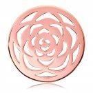"""Nikki Lissoni, rose gold, """"Large Rose"""" Coin Insert"""