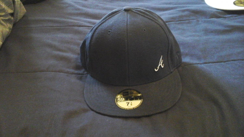 NEW ERA HAT FITTED CAP 5950 ATLANTA BRAVES FLAWLESS HAT 7 3/8