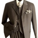 NWT Vittorio St. Angelo Men's 3-button Classic Brown Suit Size 40R (34w)