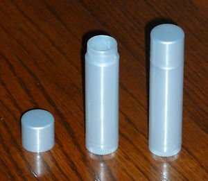 100 NEW Empty Light Silver LIP BALM Chapstick Tubes Containers - .15 oz / 5ml