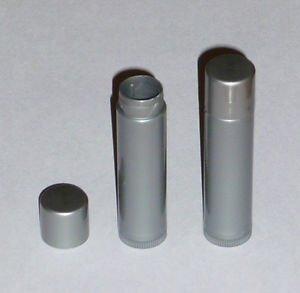 50 NEW Empty Dark Silver LIP BALM Chapstick Tubes Containers - .15 oz / 5ml