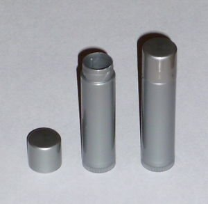 10 NEW Empty Dark Silver LIP BALM Chapstick Tubes Containers - .15 oz / 5ml