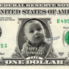 Personalized / Custom Dollar Bill your Face AND Name on REAL $1  - w/ ur PICTURE