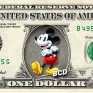 MICKEY MOUSE on REAL Dollar Bill - Collectible Celebrity Cash Money Art
