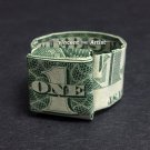 Money Origami RING - Dollar Bill Art - Made with real $1 Cash