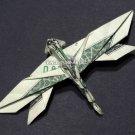 Money Origami DRAGON FLY - Dollar Bill Art - Made with $1.00