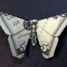$5 Bill Money Origami BUTTERFLY - Dollar Bill Art - Made with $5.00 Cash