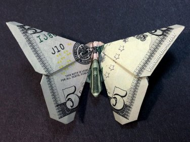 BUTTERFLY Money Origami Dollar Bill Animal Insect Cash | Etsy | 282x376