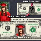 CUSTOMIZED $1 Dollar Bill with ur COLOR Picture & Name! Made w/ Real $1.00 Cash