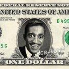 SAMMY DAVIS JR on REAL Dollar Bill - Celebrity Collectible Custom Cash
