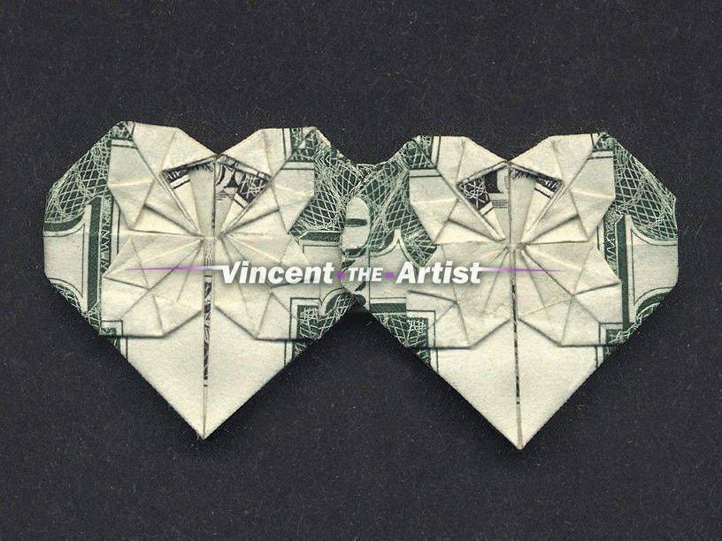geld origami heart-faltanleitungen enthalten-schein-abbildung cash ... | 612x816