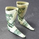 Money Origami BOOTS - Dollar Bill Art - Made with Real $1.00 Cash