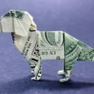 Money Origami DOG - Dollar Bill Art - Made with Real $1.00 Cash