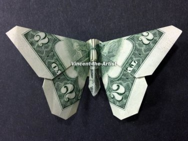 Money origami butterfly 🦋 making a butterfly out of 1 Dollar bill ... | 282x376