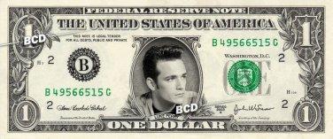 LUKE PERRY on REAL Dollar Bill Spendable Cash Celebrity Money Mint