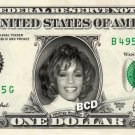 WHITNEY HOUSTON on REAL Dollar Bill Cash Money Collectible Memorabilia Celebrity