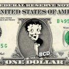 BETTY BOOP on REAL Dollar Bill Cash Money Collectible Memorabilia Celebrity Bank