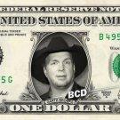 GARTH BROOKS on REAL Dollar Bill Spendable Cash Celebrity Money Mint