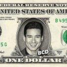 MARIO LOPEZ on REAL Dollar Bill Spendable Cash Celebrity Money Mint