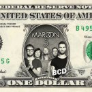 MAROON 5 on REAL Dollar Bill Spendable Cash Celebrity Money Mint