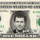 MEL GIBSON on REAL Dollar Bill Spendable Cash Celebrity Money Mint