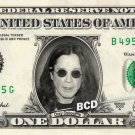 OZZY OSBOURNE on REAL Dollar Bill Spendable Cash Celebrity Money Mint