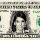 SANDRA BULLOCK on REAL Dollar Bill Spendable Cash Celebrity Money Mint