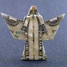 Money Origami ANGEL - Dollar Bill Art - Made with $1.00 Cash