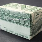 Money Origami GIFT BOX - Dollar Bill Art - Made with real $1 Cash