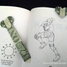 Money Origami HEART BOOKMARKER - Dollar Bill Art - Made with Real $1.00 Cash