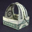 Money Origami TIP BASKET - Dollar Bill Art - Made with $1.00 Cash