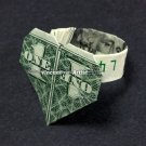Money Origami HEART RING - Dollar Bill Art - Made with Real $1.00 Cold Cash