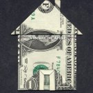 Money Origami HOUSE w/ Chimney & Front Door - Dollar Bill Art - Made with $1.00