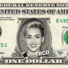 MILEY CYRUS - REAL Dollar Bill Cash Money Collectible Memorabilia Celebrity Novelty
