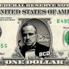 MARLON BRANDO The Godfather on REAL Dollar Bill Spendable Cash Money Mint