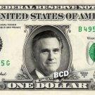 MITT ROMNEY on REAL Dollar Bill - Spendable Cash Collectible Celebrity Money Art