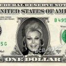 ZSA ZSA GABOR on REAL Dollar Bill - Collectible Celebrity Custom Cash Money Art