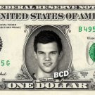TAYLOR LAUTNER on REAL Dollar Bill Collectible Cash Celebrity Money Mint $1.00