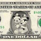 Disney's Christmas Mickey & Minnie REAL Dollar Bill Collectible Cash Money