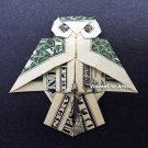 OWL Money Origami - Dollar Bill Art - Made with $1.00 bill