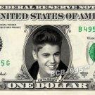JUSTIN BIEBER on REAL Dollar Bill - Singer - $1 Custom Cash Money