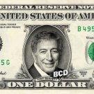 TONY BENNETT on REAL Dollar Bill - Celebrity Collectible Custom Cash