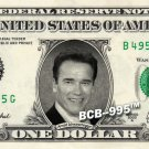 ARNOLD SCHWARZENEGGER on a REAL Dollar Bill Cash Money Collectible Memorabilia